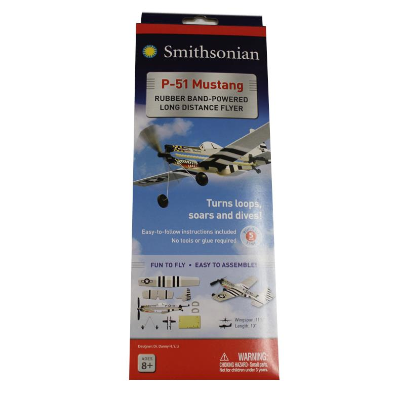 Smithsonian P-51 Mustang Rubberband Flyer
