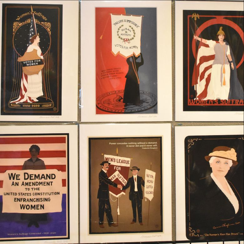 Women's Suffrage Artwork By Meneese Wall